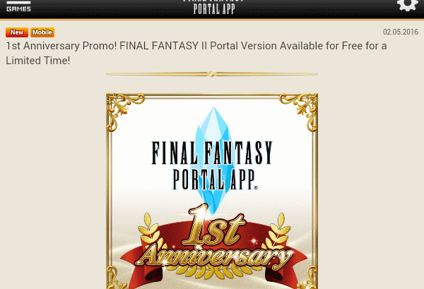 Final Fantasy II is free, sort of.