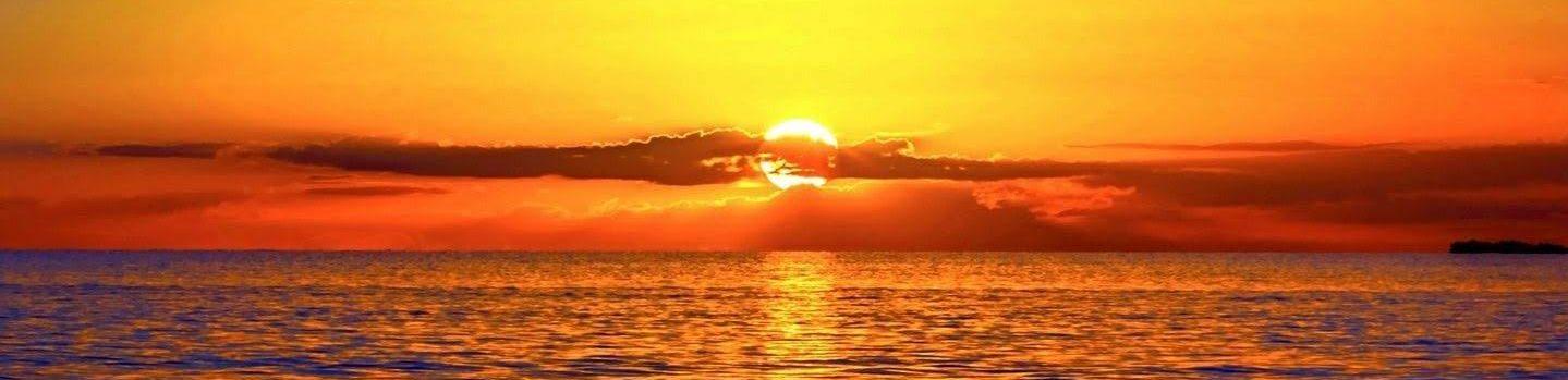 A vibrant sunset.